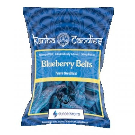 Kanha Candies - 400mg Blueberry Belts